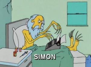 Sam Simon, in una puntata dei Simpson